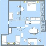 Apartments Novalja - Villa Margareta Novalja - Blue Apartment Floorplan