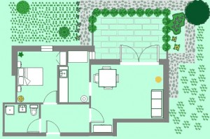 Apartments Novalja - Villa Margareta Novalja - Green Apartment Floorplan